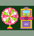 gambling machine race and fortune game vector image vector image