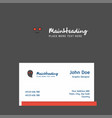 ghost logo design with business card template vector image vector image