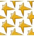 glossy golden stars seamless pattern vector image