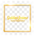 gold shiny vintage border isolated on transparent vector image