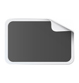 Gray square sticker on white vector image