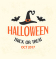 halloween emblem template logo badge vector image vector image