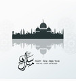 happy new hijri year islamic background vector image vector image