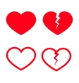 Heart Shape Icons vector image