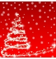 How to design a Christmas tree vector image vector image