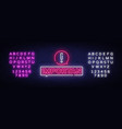 important neon sign important design vector image