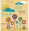 infographics with flowers at spring season vector image
