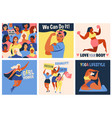 international womens day we can do it poster vector image