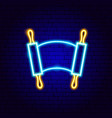 jewish torah neon sign vector image vector image