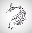 Koi Fish Logo vector image