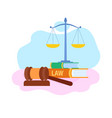 law and justice symbols flat vector image vector image