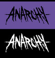 lettering anarchy vector image vector image