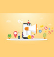 mobile marketing concept with smartphone and vector image