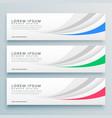 modern clean web banner or header design vector image vector image