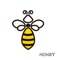 Modern logo bee honey icons honeybee linear flute