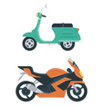 motorcycle icon city transport concept flat vector image