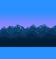 mountain landscape background with blue hills and vector image vector image