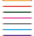 multi color pencil set vector image