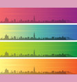 nice multiple color gradient skyline banner vector image vector image