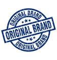 original brand blue round grunge stamp vector image vector image