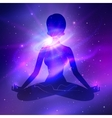 Outer space Meditation vector image vector image