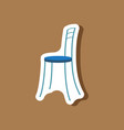 paper sticker on stylish background chair vector image vector image