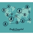 People connected design vector image vector image