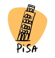 pisa italy leaning tower vector image vector image