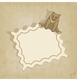 retro background with bear vector image vector image