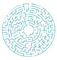 round blue labyrinth without a solution vector image vector image