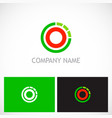 round line target technology logo vector image vector image