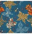 seamless butterflies pattern vector image vector image