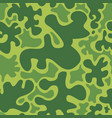 seamless camouflage green vector image