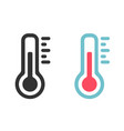 set icons thermometer in flat style vector image