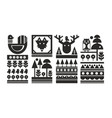 set of black and white scandinavian prints vector image vector image
