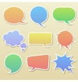Set of comic bubbles vector image