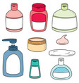 set of topical cosmetic and topical medicine vector image vector image