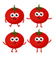 set with cartoon tomato vector image vector image