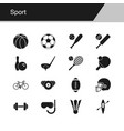sport icons design for presentation graphic vector image