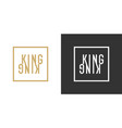 stylish inscription kingfor design and print on vector image