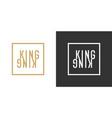 stylish inscription kingfor design and print vector image