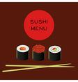 sushi bar menu template vector image