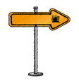 traffic signal arrow guide vector image vector image