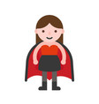 vampire girl children in halloween costume flat vector image