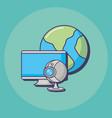 web cam icon vector image vector image