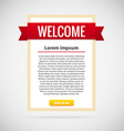 welcome banner with button join to us vector image vector image