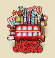 welcome to england cartoon educational concept vector image