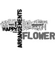 what is one flower benefit that you know text vector image vector image