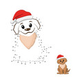 dot to dot game connect puzzle funny puppy vector image