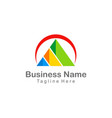 triangle pyramid colorful company business logo vector image
